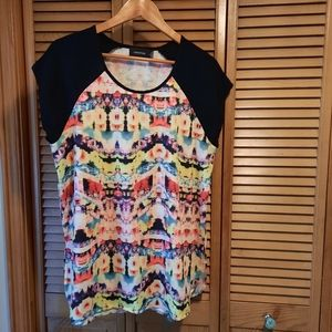 2 for $25 MINKPINK Colorful Abstract Printed Tee